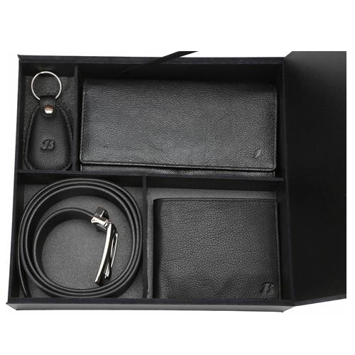 Bata His & Her Wallet, Belt & Keychain Combo 935-6001